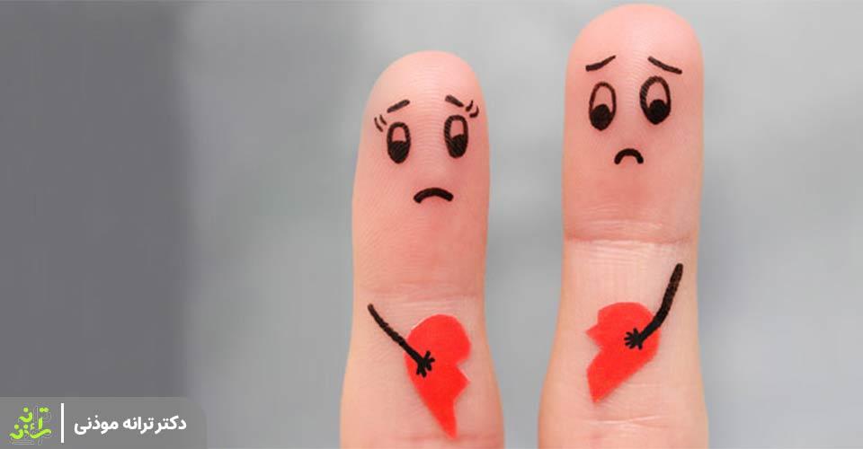 دلایل طلاق عاطقی